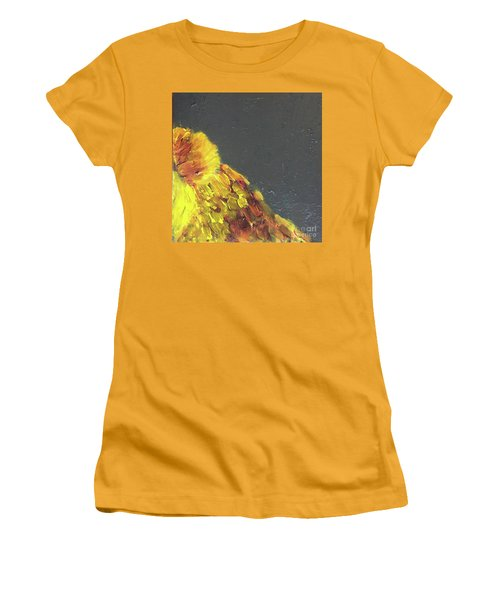 Women's T-Shirt (Athletic Fit) featuring the painting Lion Family Part 2 by Donald J Ryker III