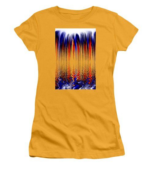Liquid Overflow By Kaye Menner Women's T-Shirt (Athletic Fit)