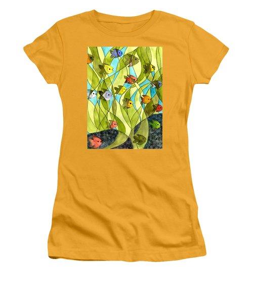 Little Fish Big Pond Women's T-Shirt (Athletic Fit)