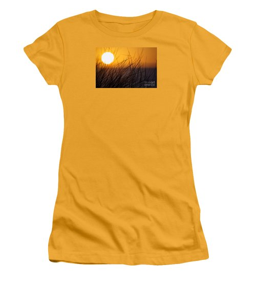 Llangennith Sun Women's T-Shirt (Athletic Fit)