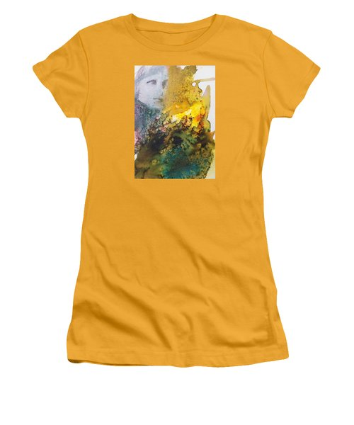 Women's T-Shirt (Junior Cut) featuring the painting Llywelyn From Luxembourg by Ed  Heaton