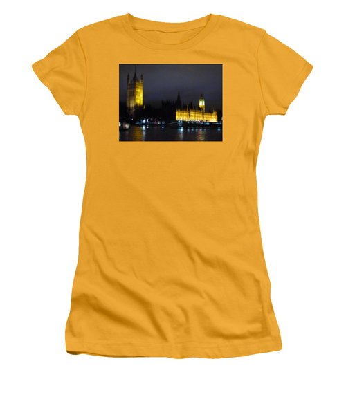 Women's T-Shirt (Junior Cut) featuring the photograph London Late Night by Christin Brodie
