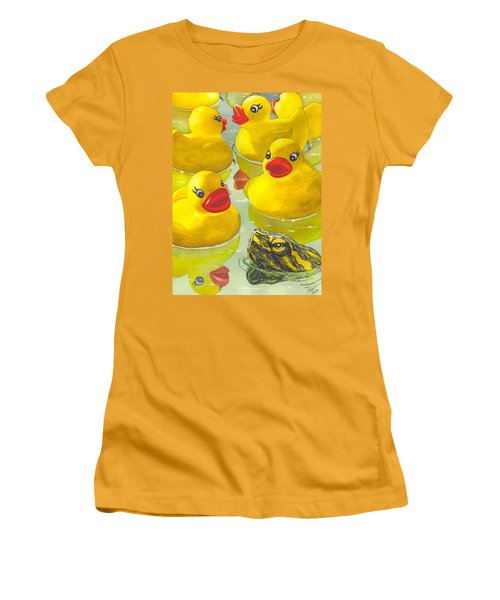 Look Its A Turtle Head Women's T-Shirt (Athletic Fit)