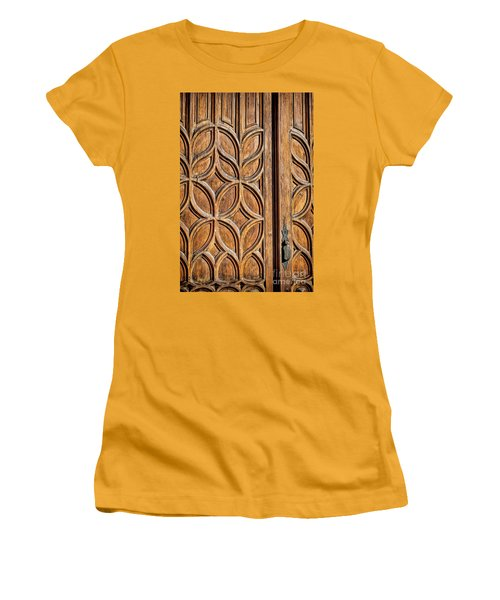 Women's T-Shirt (Junior Cut) featuring the photograph Loretto Doorway by Gina Savage
