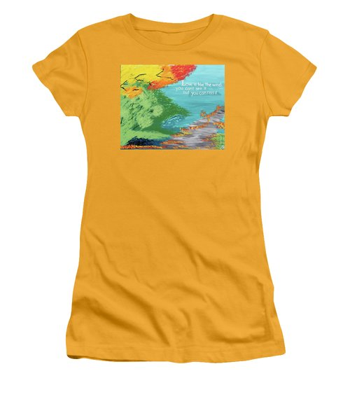Love Like The Wind Women's T-Shirt (Junior Cut) by Cyrionna The Cyerial Artist