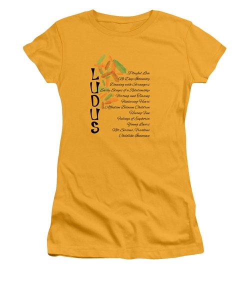 Ludus-playful Love. Women's T-Shirt (Athletic Fit)