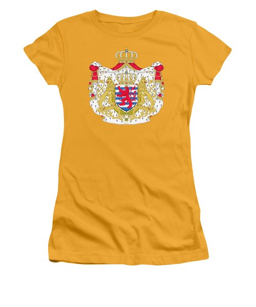 Luxembourg Coat Of Arms Women's T-Shirt (Junior Cut) by Movie Poster Prints