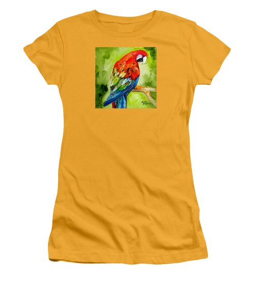 Macaw Tropical Women's T-Shirt (Athletic Fit)