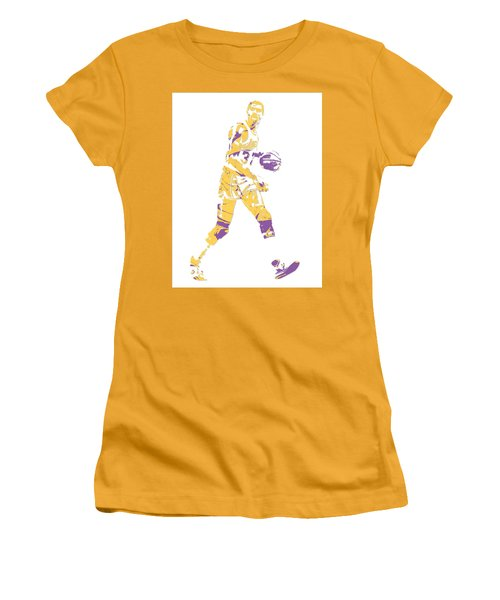 Magic Johnson Los Angeles Lakers Pixel Art 5 Women's T-Shirt (Athletic Fit)