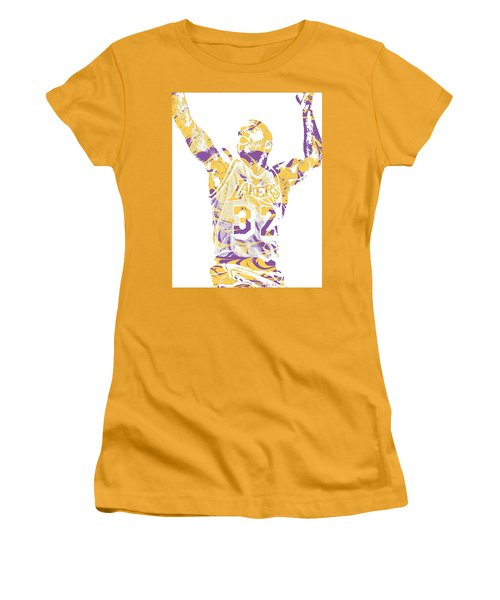 Magic Johnson Los Angeles Lakers Pixel Art 7 Women's T-Shirt (Athletic Fit)