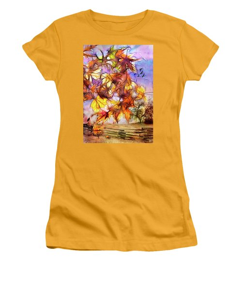 Magic Of Autumn Women's T-Shirt (Athletic Fit)