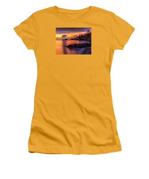 Magical Sunrise On Commencement Bay Women's T-Shirt (Junior Cut) by Rob Green