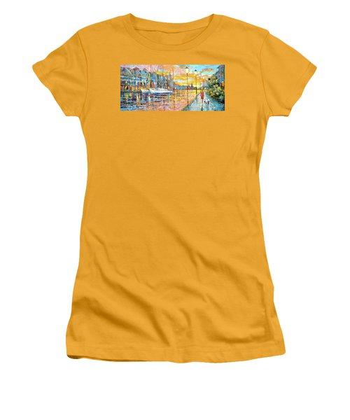 Magical Sunset Women's T-Shirt (Junior Cut) by Dmitry Spiros