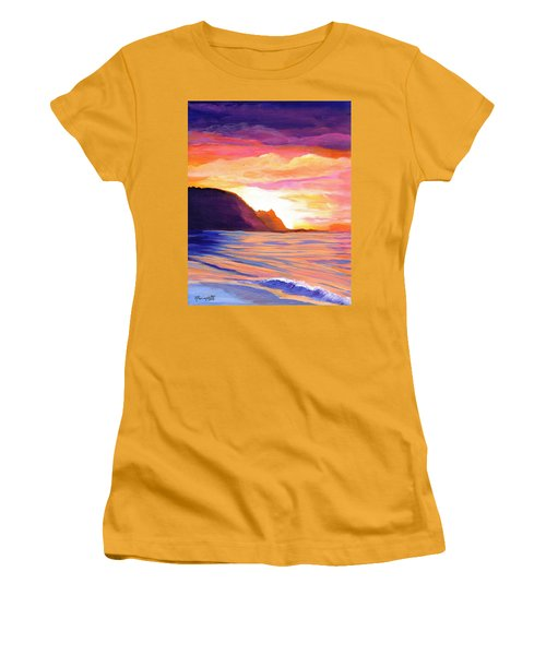 Makana Sunset Women's T-Shirt (Junior Cut) by Marionette Taboniar