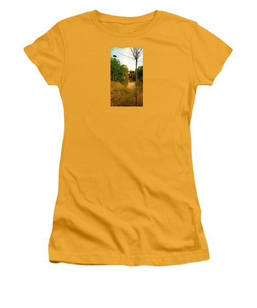 Women's T-Shirt (Junior Cut) featuring the photograph Malamocco Canal No2 by Anne Kotan
