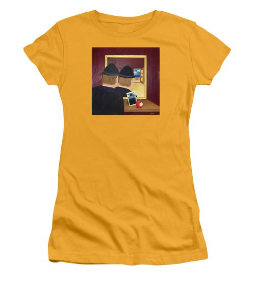 Man In The Mirror Women's T-Shirt (Junior Cut) by Thomas Blood