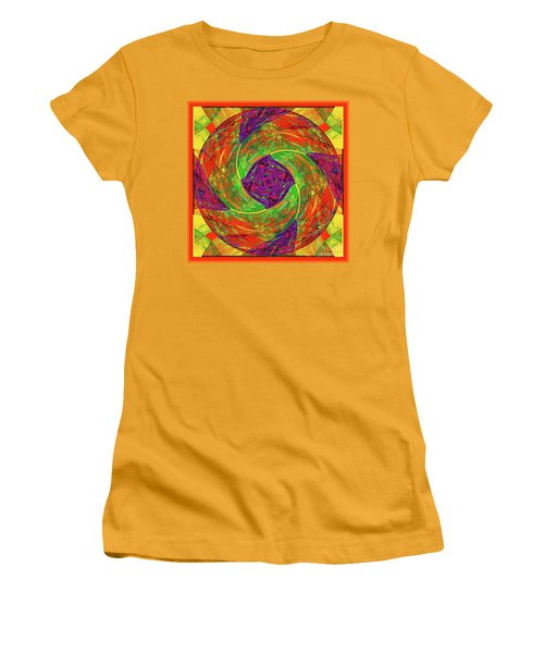 Mandala #55 Women's T-Shirt (Athletic Fit)