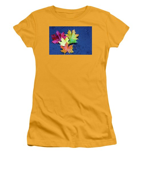 Maple Leaves Women's T-Shirt (Athletic Fit)