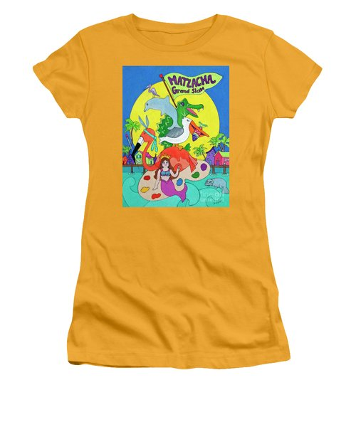 Women's T-Shirt (Junior Cut) featuring the painting Matlacha Grand Slam by Rosemary Aubut