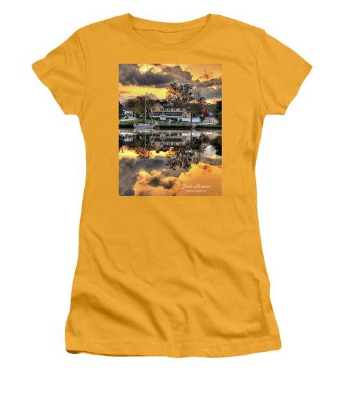 Mays Landing Sunrise Women's T-Shirt (Junior Cut) by John Loreaux