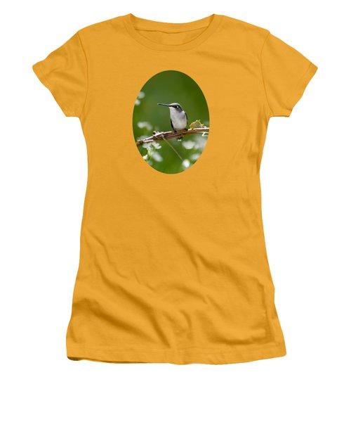 Meadow Hummingbird Women's T-Shirt (Junior Cut) by Christina Rollo