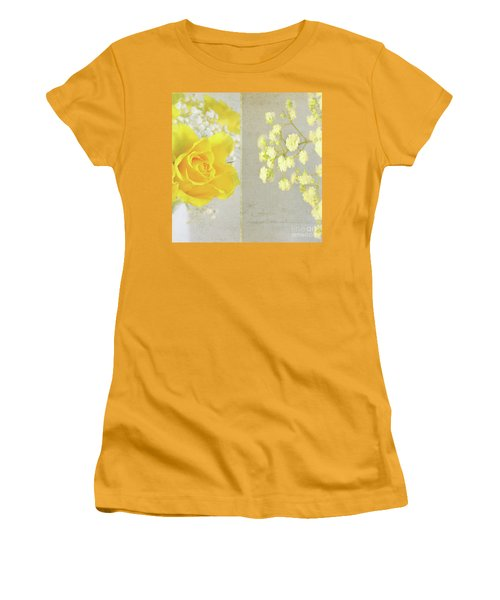 Women's T-Shirt (Junior Cut) featuring the photograph Mellow Yellow by Lyn Randle