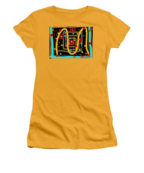 Merry Kissmass Women's T-Shirt (Athletic Fit)