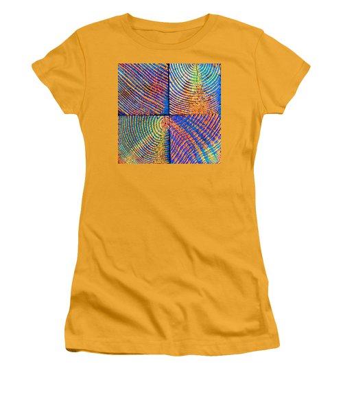 Rainbow Powerwood Women's T-Shirt (Junior Cut) by John King