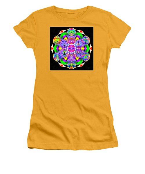 Women's T-Shirt (Athletic Fit) featuring the digital art Metatron's Cosmic Ascension by Derek Gedney