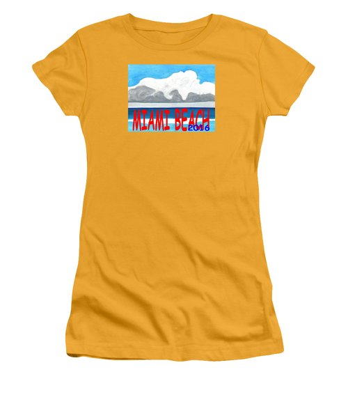 Miami Beach 2016 Women's T-Shirt (Junior Cut) by Dick Sauer
