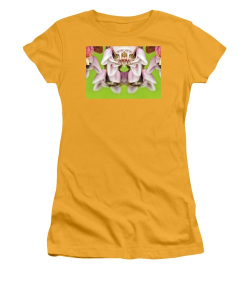 Milkweed Mirror Image Pareidolia Women's T-Shirt (Athletic Fit)