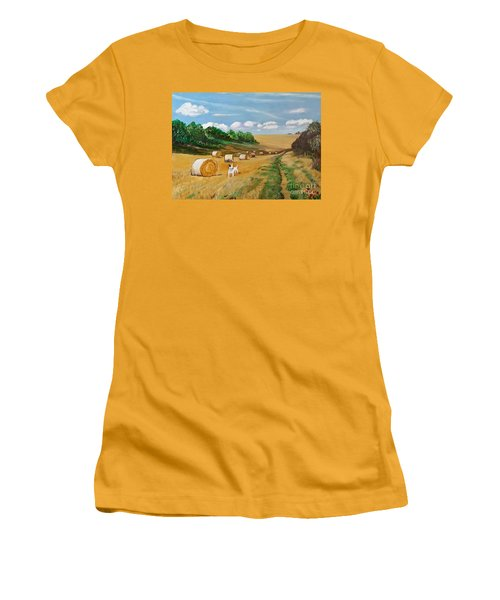Millie's Day Out - Painting  Women's T-Shirt (Athletic Fit)