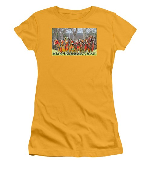 Minnamooooo...cows Women's T-Shirt (Athletic Fit)
