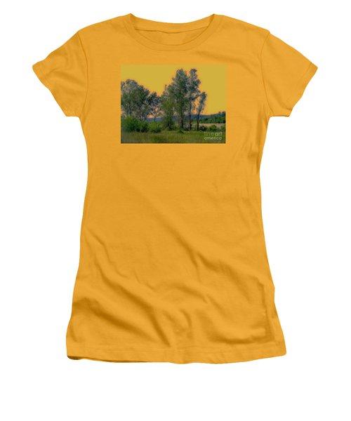 Mississippi Estuary Women's T-Shirt (Junior Cut) by Nancy Kane Chapman