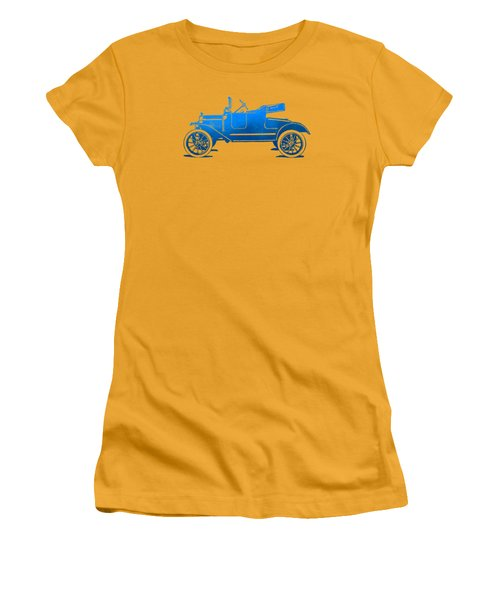 Model T Roadster Pop Art Blue Gradient Women's T-Shirt (Athletic Fit)