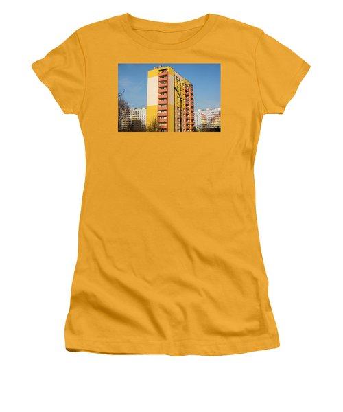 Women's T-Shirt (Junior Cut) featuring the photograph Modern Apartment Buildings by Juli Scalzi