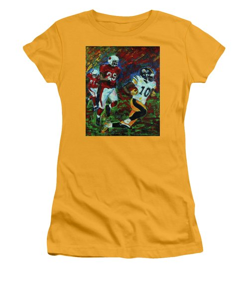 Women's T-Shirt (Junior Cut) featuring the painting Moments Before The Td by Walter Fahmy