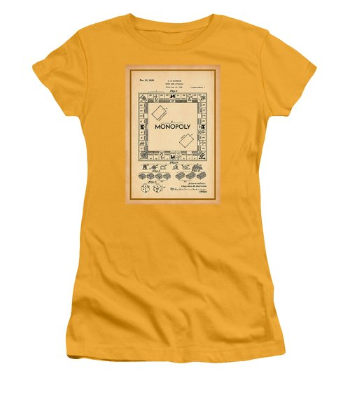 Monopoly Patent Drawing Women's T-Shirt (Athletic Fit)