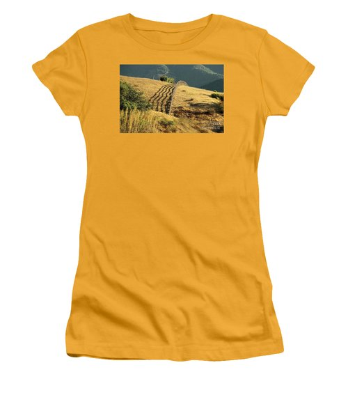 Monterey Hills Women's T-Shirt (Junior Cut) by Ellen Cotton