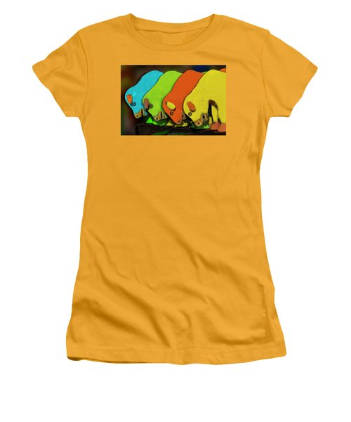 Women's T-Shirt (Junior Cut) featuring the photograph Mooving On by Paul Wear