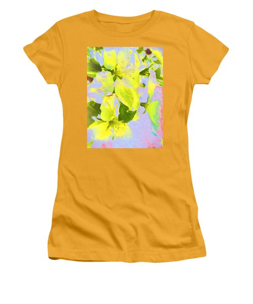 Women's T-Shirt (Junior Cut) featuring the photograph Morning Floral by Kathy Bassett