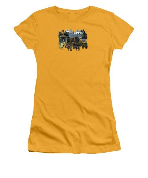 Women's T-Shirt (Junior Cut) featuring the photograph Morning Glory Cafe Ashland by Thom Zehrfeld