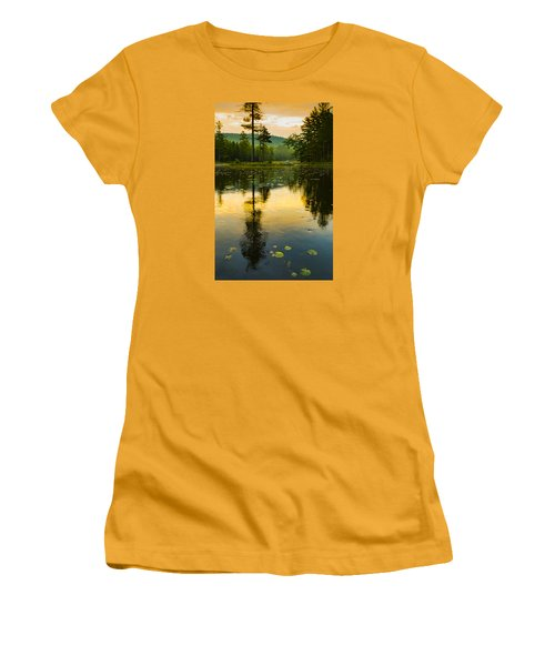 Morning Glow On Lake Women's T-Shirt (Athletic Fit)