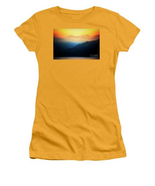 Morning Mist Catalina Island California Usa Women's T-Shirt (Athletic Fit)