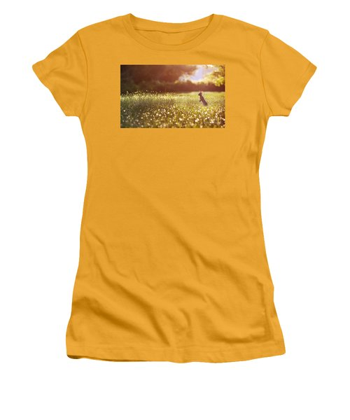 Morning Rabbit Women's T-Shirt (Athletic Fit)