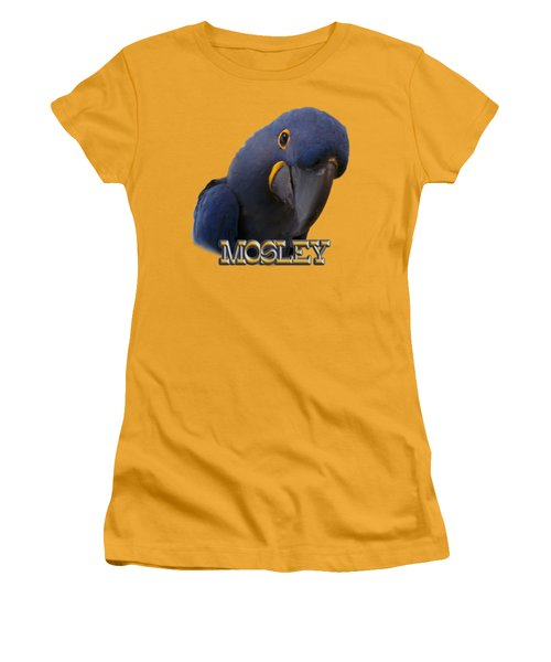 Mosley Women's T-Shirt (Junior Cut) by Zazu's House Parrot Sanctuary