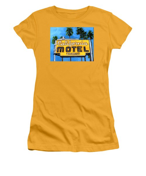 Motel California Women's T-Shirt (Athletic Fit)