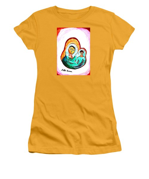 Mother And Child Women's T-Shirt (Junior Cut) by Ramona Matei