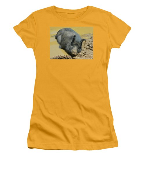 Mud Spa Women's T-Shirt (Junior Cut) by Emmy Marie Vickers