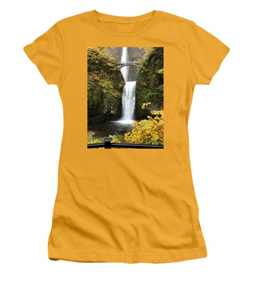 Multnomah Falls Women's T-Shirt (Athletic Fit)